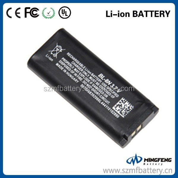 New oem replacement mobile phone battery for BL-8N battery with factory price for NOKIA 7280/7380 mobile phone