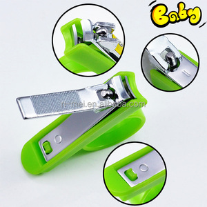 Safety plastic handle green color baby nail cutter