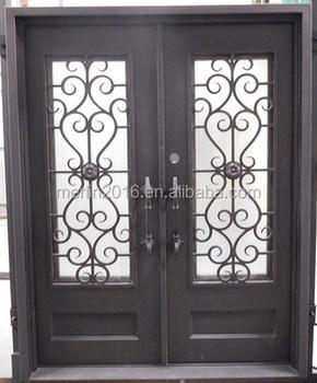 front door gate. Wrought Iron Front Doors Gate Sliding Grill Design Door
