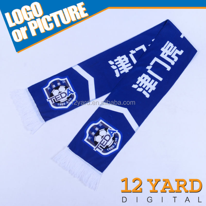 2018 newest football scarf & custom design print scarf