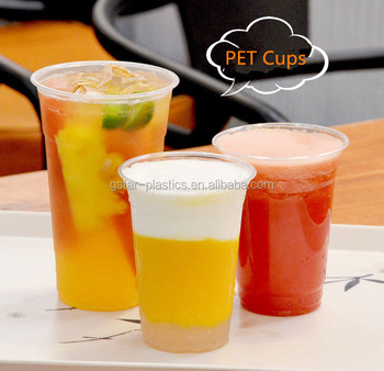 Samples of 12oz 16oz Smoothie PET Cups for Cold Juice Drinks, Free Shipping  by DHL