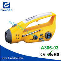 A306-03 Solar Rechargeable China Crank Radio
