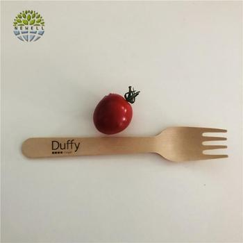 Hot selling natural color mini wooden cutlery with personalized packing