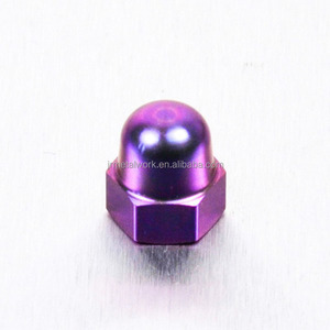 M6 M10 Aluminum anodized plated hex cap dome nut DIN1587