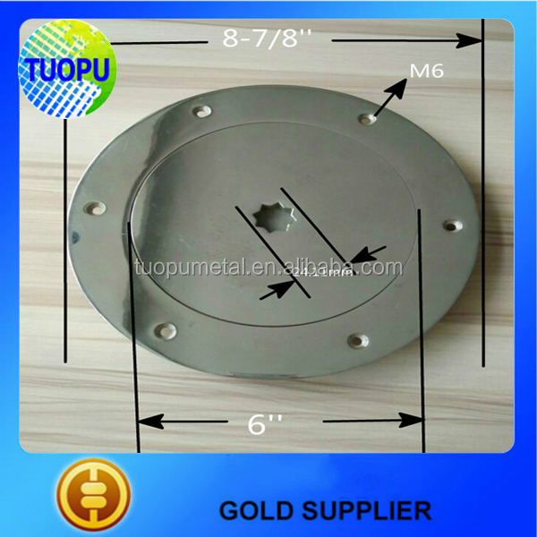 China Boat Stainless Steel Round Deck Plate,6 Inch Screw Fixed ...