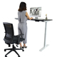 Office autonomous furniture adjustable height sit-stand desk