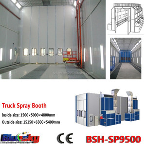 CE approved auto body and paint/large spray booth/truck spray booth