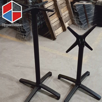 Black folding table leg