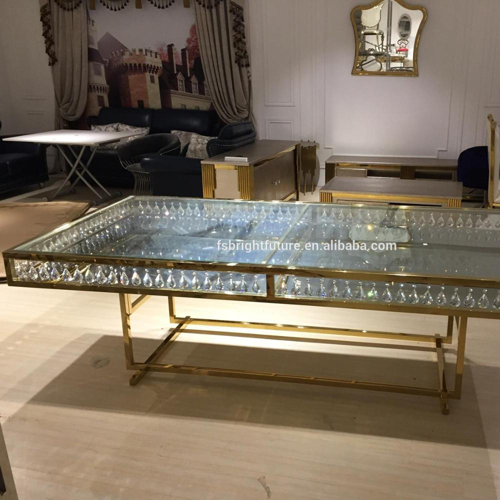 Venta al por mayor mesa comedor diseño cristal-Compre online ...