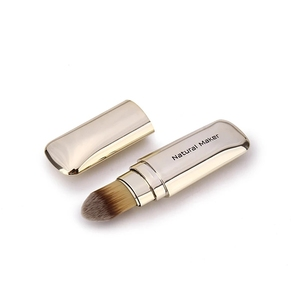 Natural Maker Retractable Portable Soft Foundation Makeup Brush Concealer Brush With Cap