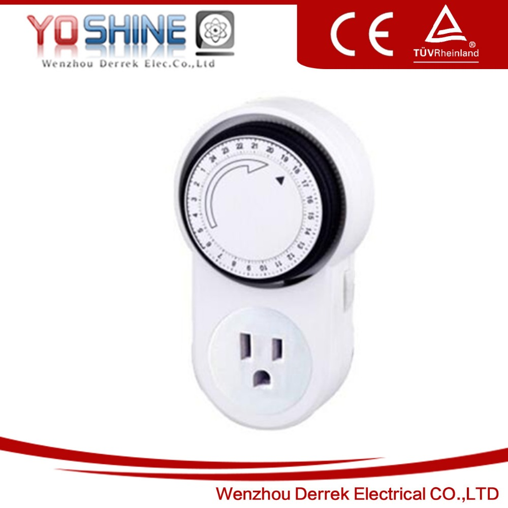 15A 24 Hour Mechanical Timer USA Type Socket Timer Switch