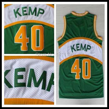2015 New Style Throwback Jerseys  40 Shawn Kemp Jersey Retro Basketball  Jerseys High Quality 8af3991e4