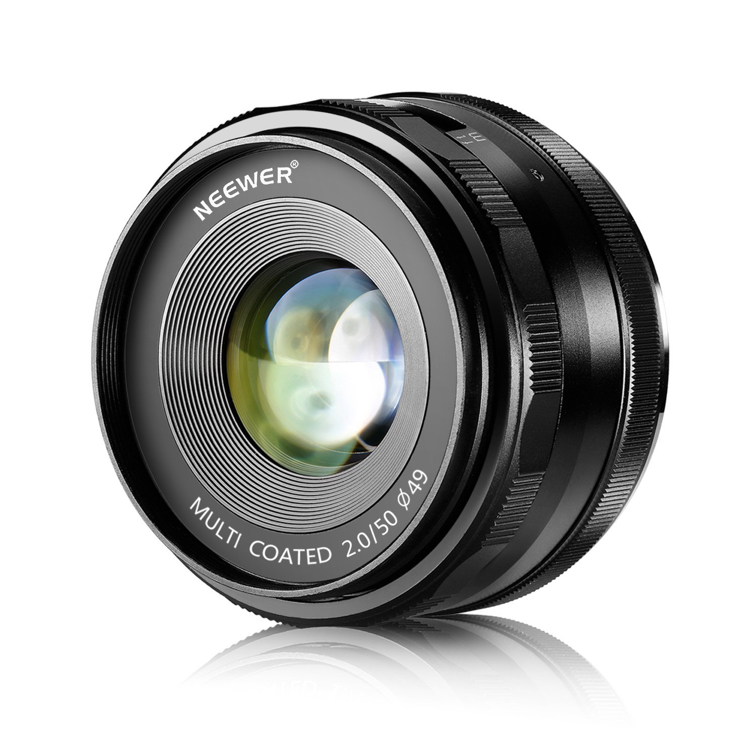Neewer® 50mm f/2.0 Manual Focus Prime Fixed Lens for OLMPUS and PANASONIC APS-C Digital Cameras, Such as OLYMPUS: E-M1/M5/M10, E-P5E-PL3/PL5/PL6/PL7, PANASONIC: GM1/2, GX1/2/7/8, GF5/6/7