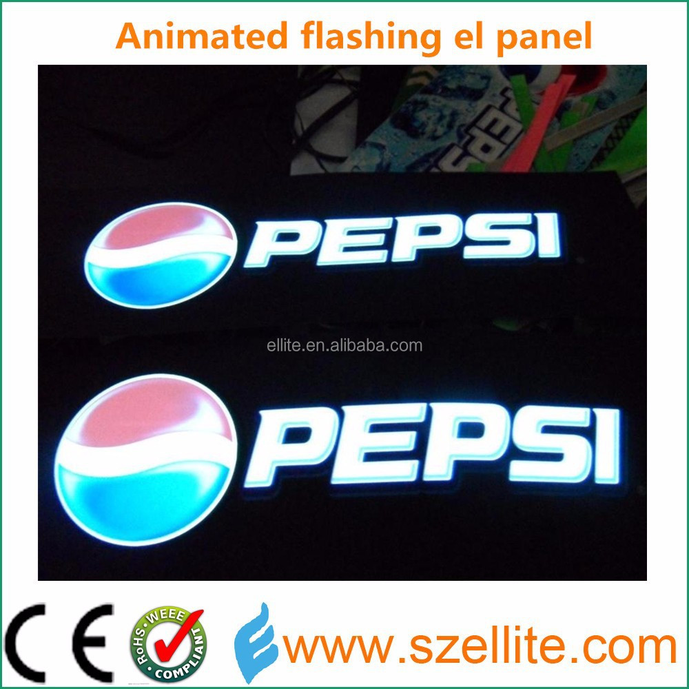 Catch your consumer creative animated indoor 0.25mm thin paper electroluminescent panel