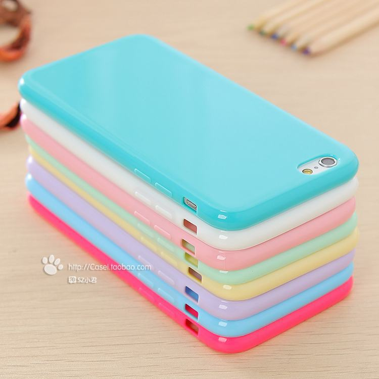 uk availability eaa87 3db14 Solid TPU soft Rubber Case for Apple iPhone 6 4.7 inch skin phone shell  drop shipping