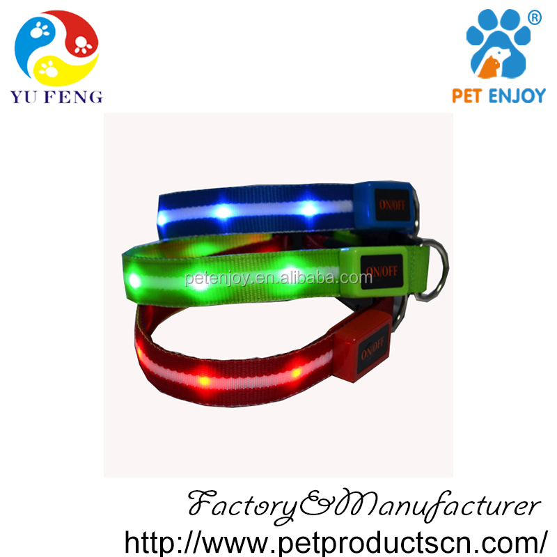 hot new imports led collar pet dog leashes sex dog flashing collar