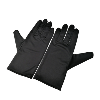 Custom white magic microfiber polishing gloves