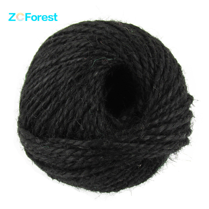 50M/Roll 1.5mm Thick Black Jute Rope Hemp String Crafts Natural Jute Twine Cord Hemp Twine Crafts DIY Manual Hemp Cord Ball