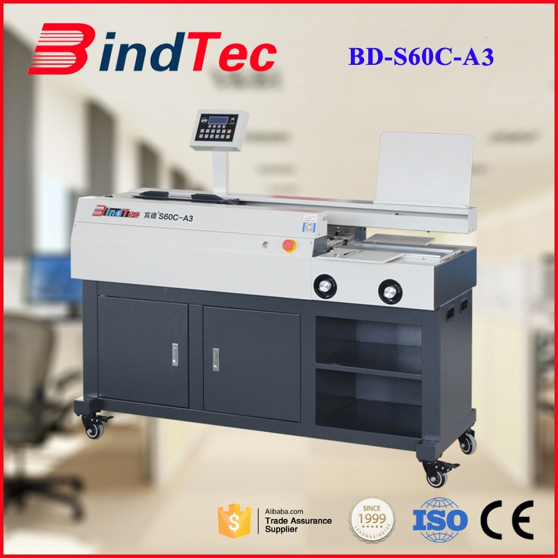BD-S60C-A3 Electricity Power and Hot Melt Glue Binding Machine