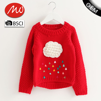 fc62a469f Brand New Woolen Clouds Sweater Designs Christmas Girls Clothes For ...