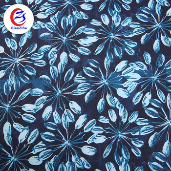 polyester spandex pure silk crinkle peacock chiffon print fabric roll