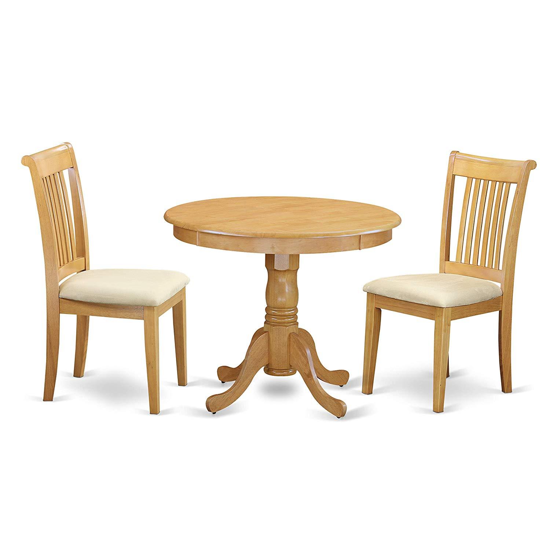 East West Furniture ANPO3-OAK-C Antique Set, Oak
