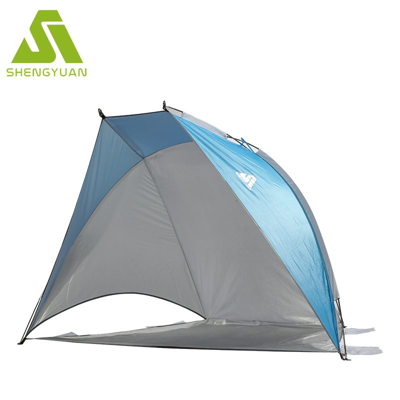 3 to 4 Person Pop Up Beach Tent Sun Shelter With Canopy Camping Shade Portable