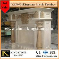 Cheapest natural color marble fire places collection for sale