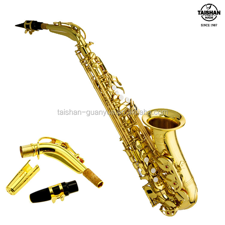 Woodwind Musical Instrument gold lacquer brass Eb alto saxophone TSAS-5500