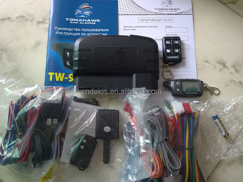 chinese factory wholesales car alarm/ auto security two way car alarm system Tomahawk TW9010 TZ9010 TZ9030 X5 Z5