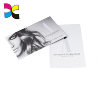 8.5X5mm Paper Business Card 300gsm matte laminated paper businesscards with Custom logo printing