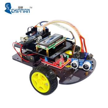 Para arduinos 2wd robot smart car ultrasnico inteligente coche para arduinos 2wd robot smart car ultrasnico inteligente coche elctrico inteligente robot car con 1602 pantalla malvernweather Choice Image