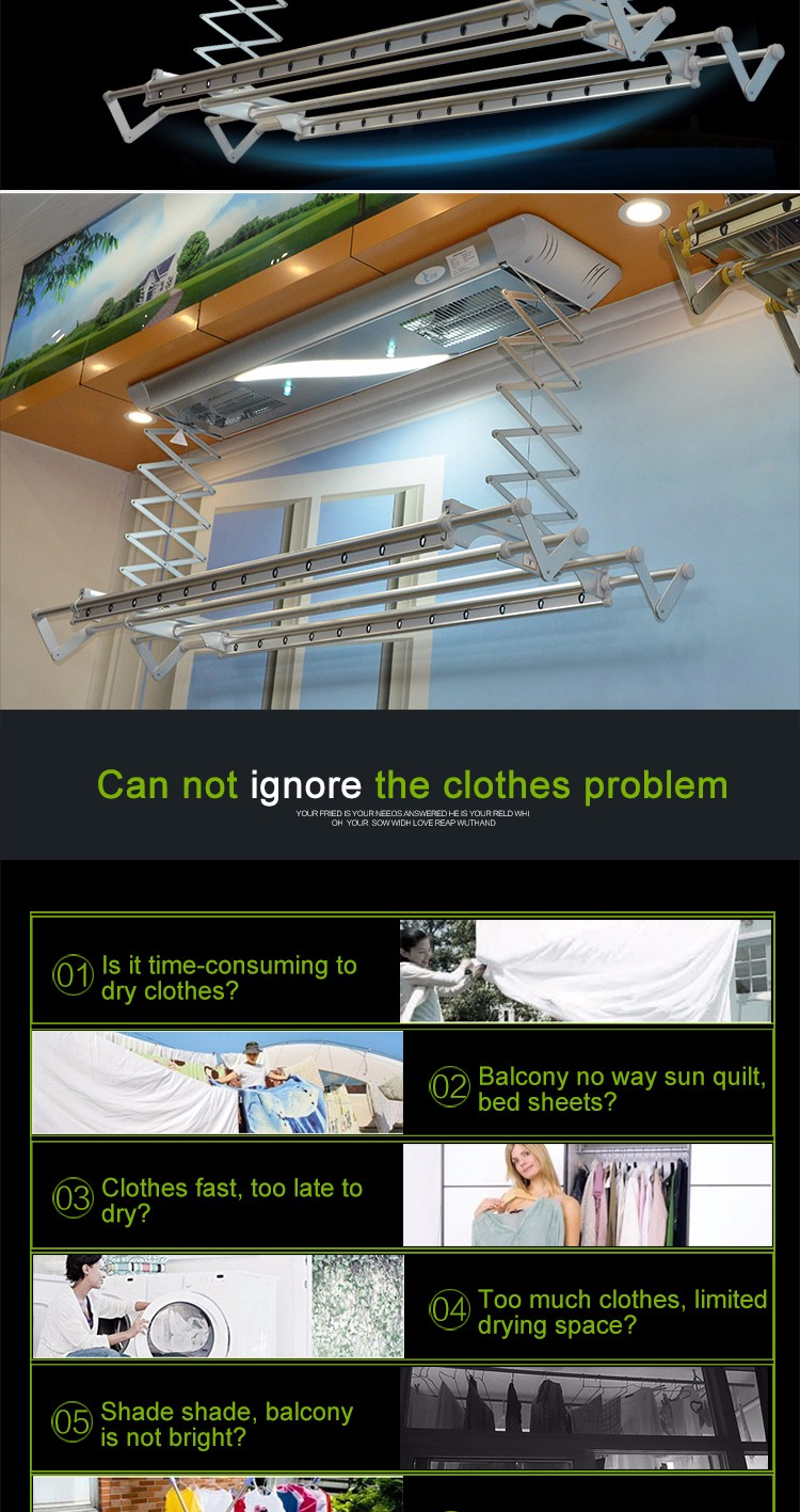 yilian oem led lighting electric laundry clothes dry rack buy