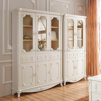 European style solid wood home library furniture