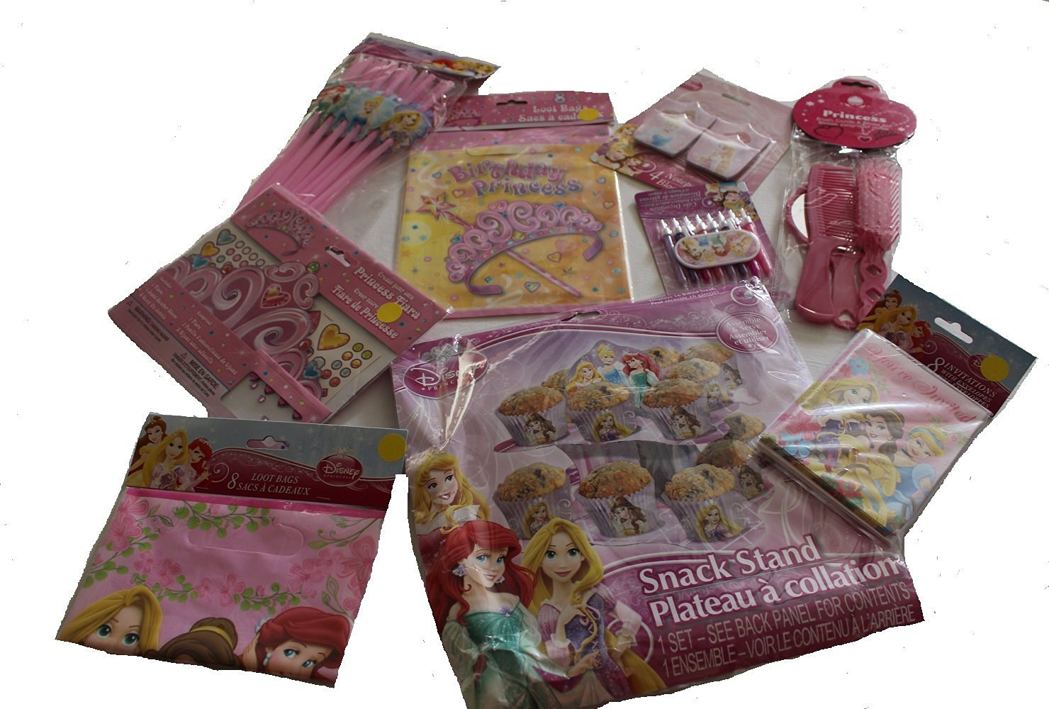 Girls Happy Birthday Disney Princess Bundle Pkg 9 pcs