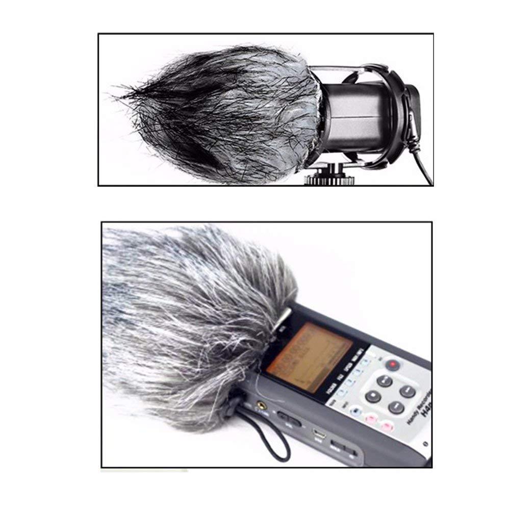 Microphone Windshield,Y&M(TM) Universal Furry Outdoor Microphone Windscreen Windshield Muff for Video Pen Type ZOOM-H4N/Microphone Type BOYA-V02
