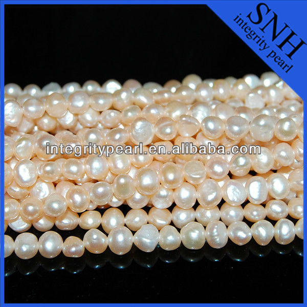 freshwater nugget pearl strands (6-7mm AA flat pearl )