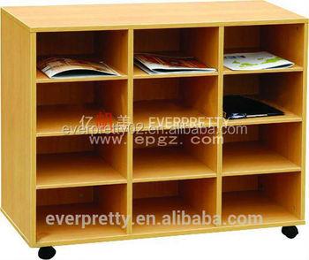 wheel wooden school bookshelf modern library furniture library