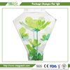 Print Plastic Packaging Sleeve For Cut Flower Wrapping/printed beautiful flower sleeve