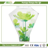 Print Plastic Packaging Sleeve For Cut Flower Wrapping/printed beautiful flower sleeve