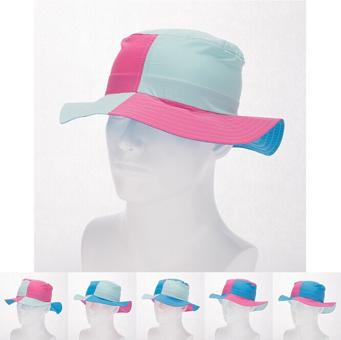 Get Quotations · 2015 Summer Casual Women Patchword Large Brimmed Hat  Fashion Breathable Anti-UV Bucket Hat Multi ec3e353f32b6