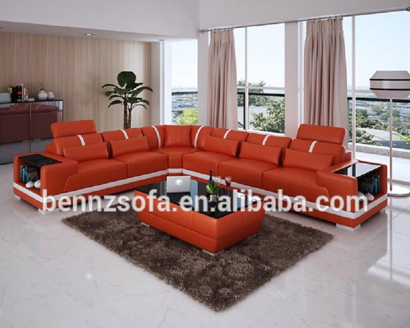 Baochi China Orange Leather Sectional Sofa - Buy Leather Sofa In  China,Mexico Leather Sofa Furniture,Orange Leather Sectional Sofa Product  on ...