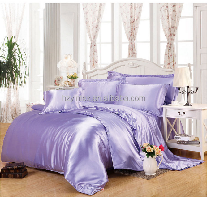 China supplier comforter sets Pink silk bedding sets/satin bedding set
