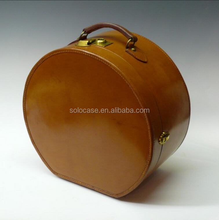 35e83782baa4f Vintage Hat Box Travel Case With Shoulder Strap - Buy Vintage Round ...