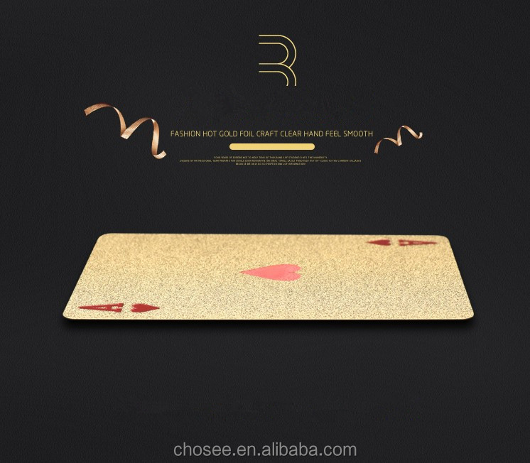 best quality price gold foil plated playing cards