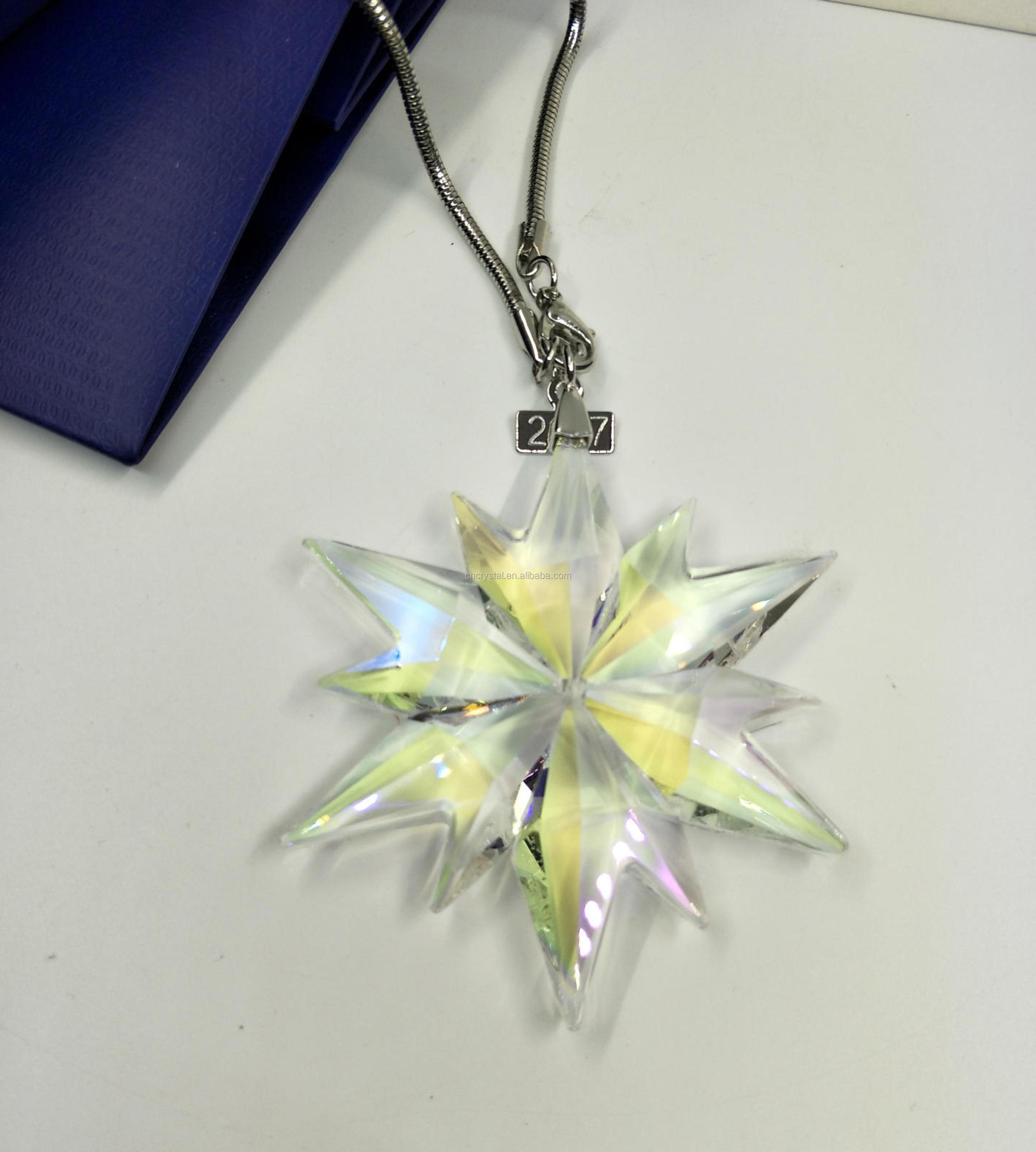 MH-DS0250 Christmas Ornament Boreail Crystal Snowflake