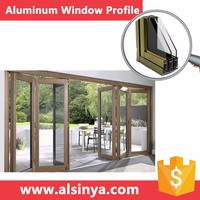 6063T5 thermal break aluminum window with different surface treatment