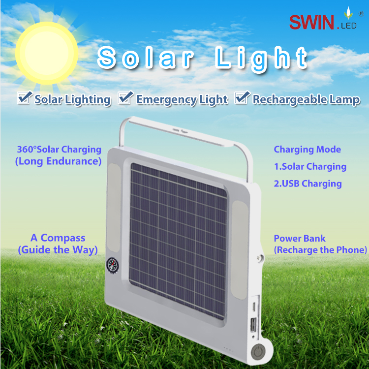 Rechargeable Solar Lamp Led camping lantern Portable Solar Outdoor Living Tent