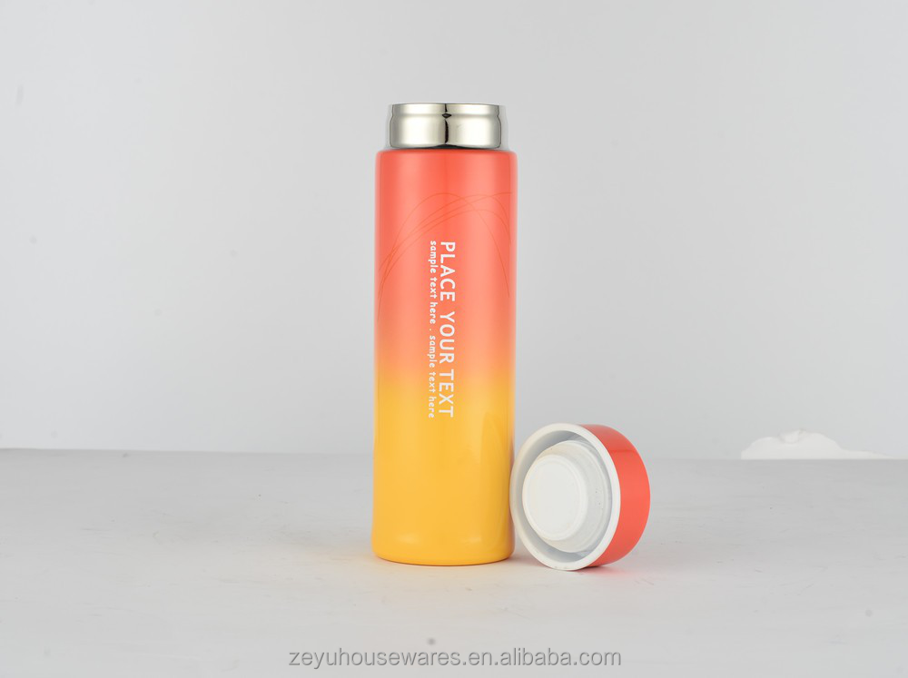 2016 Colorful stainless steel thermos flask/vacuum flasks & thermos with lid/vacuum cup
