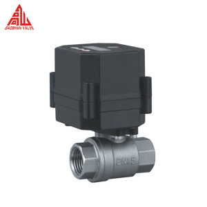 12V 24V DN15 DN20 Motorized Stainless Steel Ball Valve